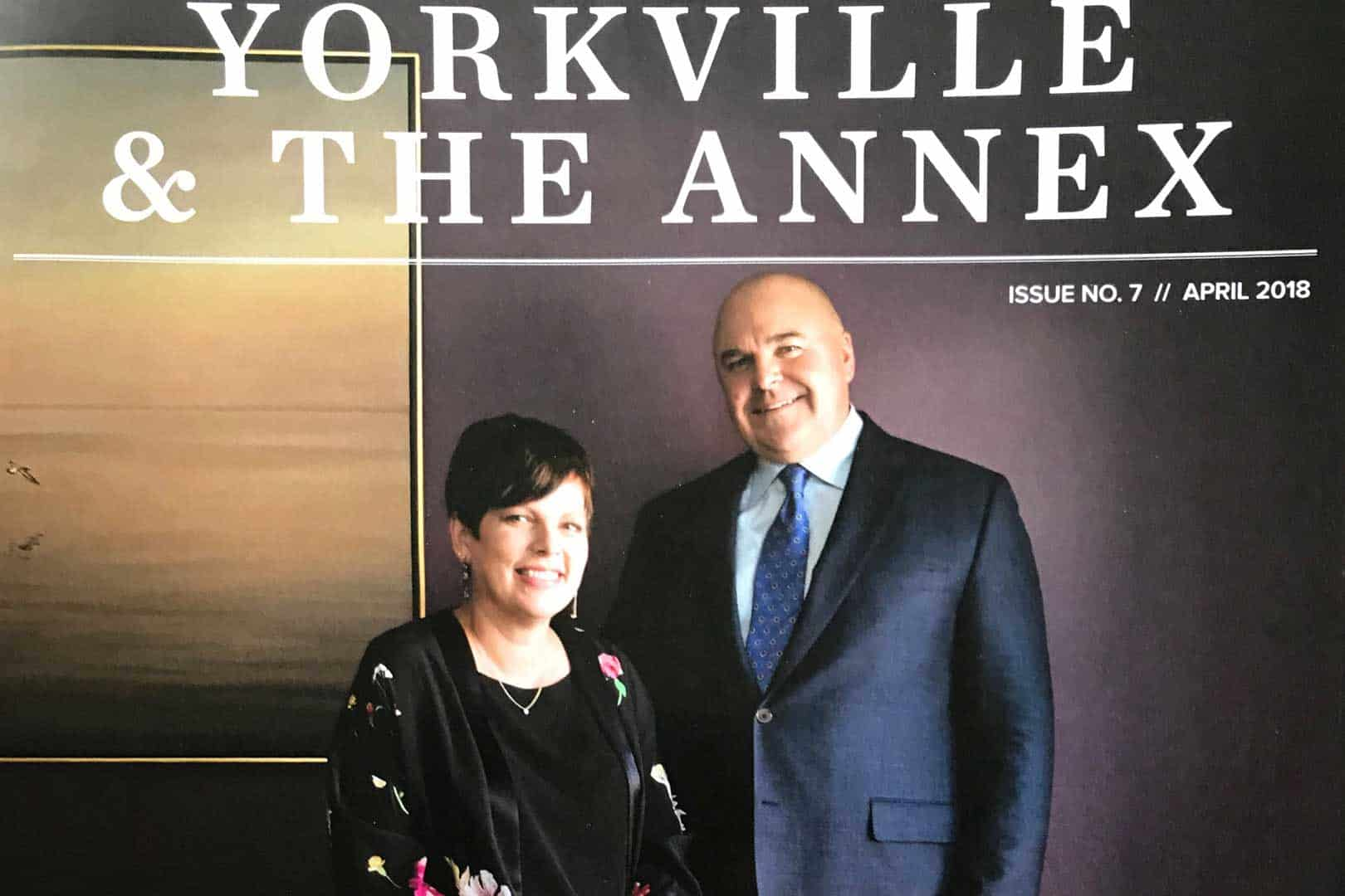 Lisa and Bruce Mahony were on the cover and inside of: Neighbours of Yorkville and the Annex this month about being a caregiver.